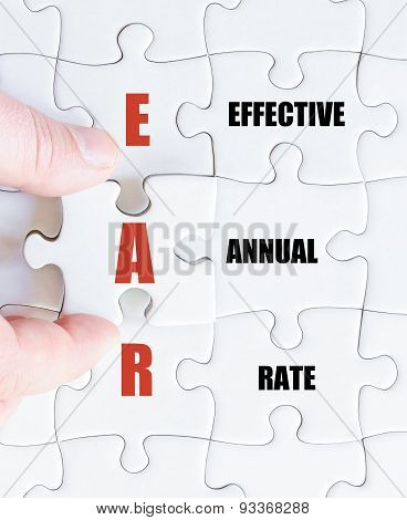 Last Puzzle Piece With Business Acronym Ear