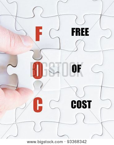 Last Puzzle Piece With Business Acronym Foc