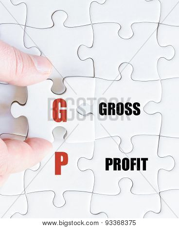 Last Puzzle Piece With Business Acronym Gp