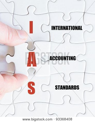 Last Puzzle Piece With Business Acronym Ias