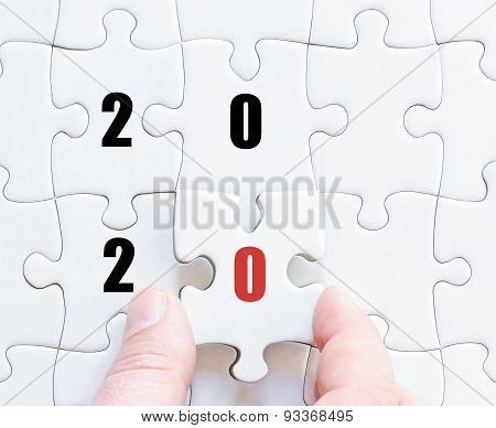 Last Puzzle Piece With Year 2020