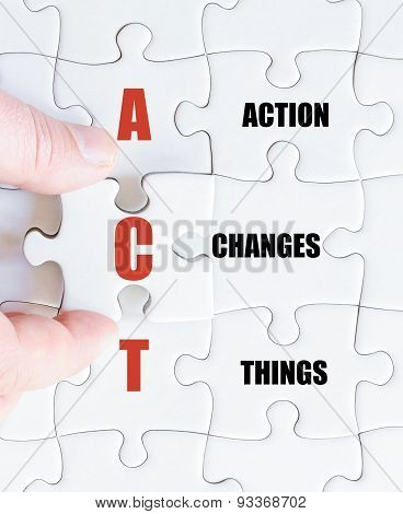 Last Puzzle Piece With Business Acronym Act
