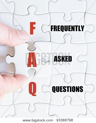Last Puzzle Piece With Business Acronym Faq