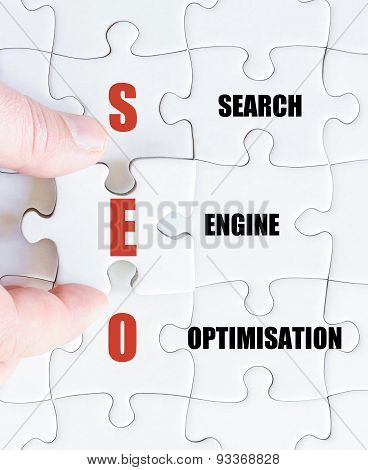 Last Puzzle Piece With Business Acronym Seo