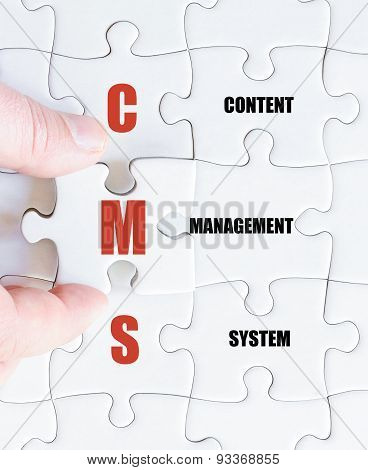 Last Puzzle Piece With Business Acronym Cms