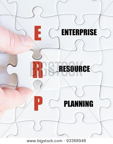Last Puzzle Piece With Business Acronym Erp