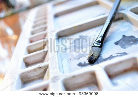 Paintbrush On Palette