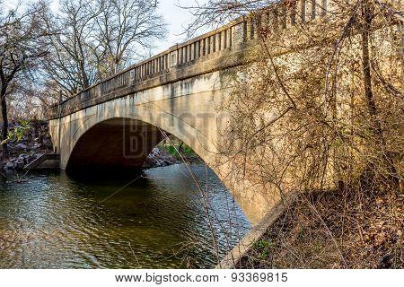Picturesque Old Pennington Creek Bridge In Oklahoma