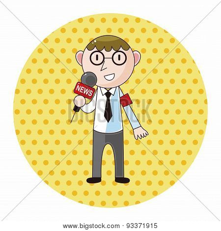 Reporter And Photographer Theme Elements Vector,eps