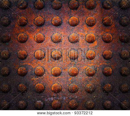 Abstract Background - Gray Paving Slabs In The Form Squares.