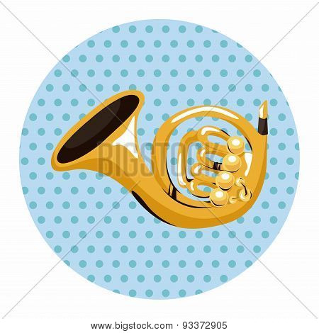 Instrument French Horn Cartoon Theme Elements