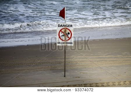 No Swimming Sign
