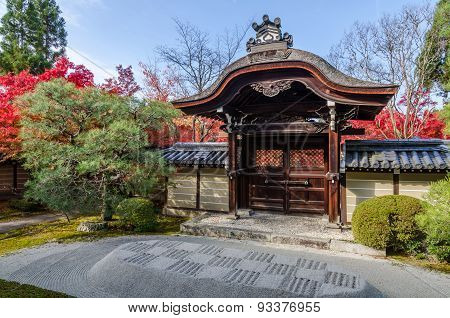 Entrance Of Japan Teple In Kyoto
