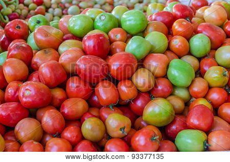 Pile Of Tomato In The Local Fresh Market