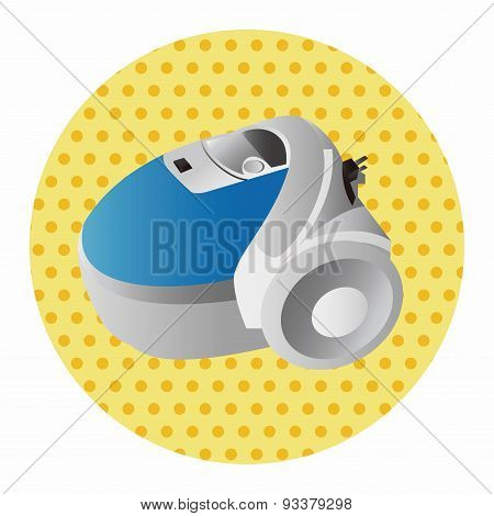 Home Appliances Theme Vacuum Cleaner Elements