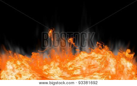 Abstract fire on black background