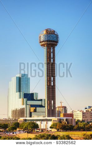 Reunion Tower At Downtown Dallas, Tx