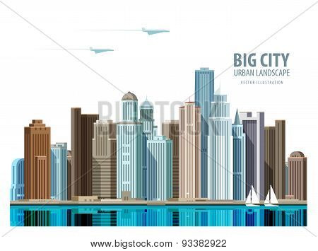 City, town vector logo design template. Architecture, building or real estate icon.