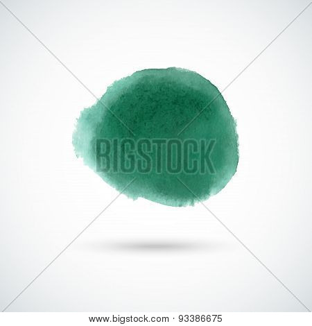 Emerald green watercolor circle
