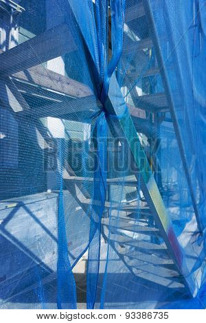 Scaffolding With Debris Netting