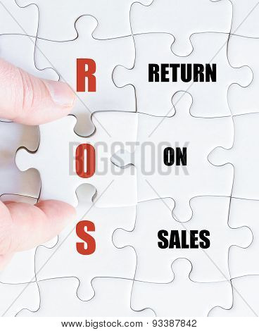 Last Puzzle Piece With Business Acronym Ros