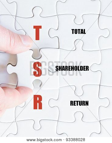 Last Puzzle Piece With Business Acronym Tsr