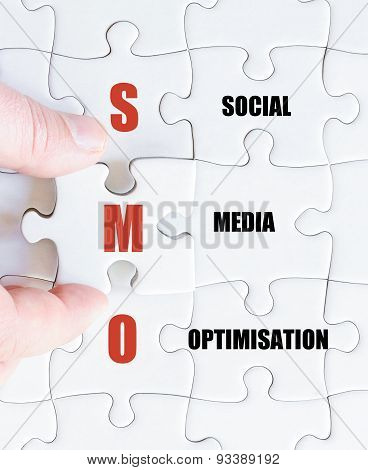 Last Puzzle Piece With Business Acronym Smo