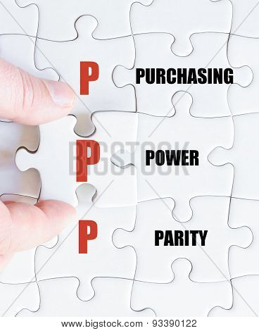 Last Puzzle Piece With Business Acronym Ppp