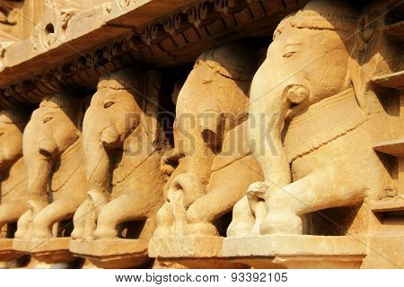 Reclining Stone Elephants