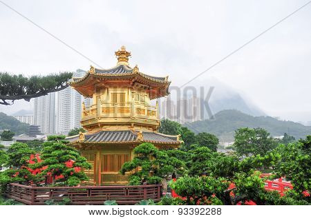 Golden Pavilion Of Nan Lian Garden, Hong Kong