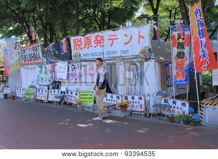 Anti nuclear demonstration Japan