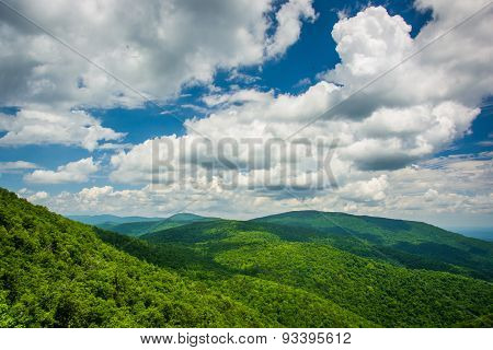 View From An Overlook On Skyline Drive In Shenandoah National Park, Virginia