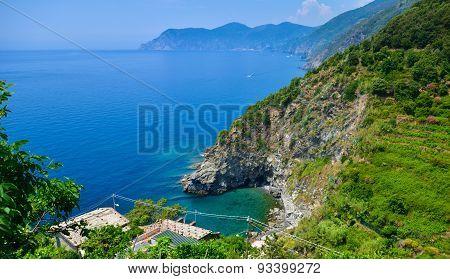 Corniglia cliff, in Cinque Terre