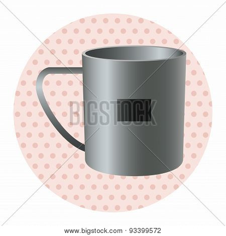 Camping Steel Cup Theme Elements