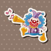 stock photo of circus clown  - Circus Clown Theme Elements - JPG