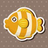 picture of cartoon animal  - Sea Animal Fish Cartoon Theme Elements - JPG