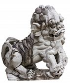 picture of debonair  - The lion design for decorate and defense at shirn Juytuy Phuket Thailand - JPG