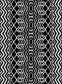 stock photo of aztec  - Aztec tribal mexican seamless pattern - JPG