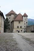 picture of annecy  - Annecy Castle and courtyard in the French Alps - JPG