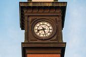 pic of fire-station  - Clock on the tower of the No - JPG