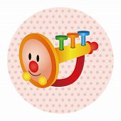 picture of trumpets  - Baby Toy Trumpet Theme Elements - JPG