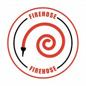 picture of firehose  - fire icons  design  - JPG