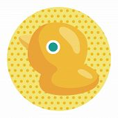 stock photo of baby duck  - Baby Toy Duck Theme Elements - JPG