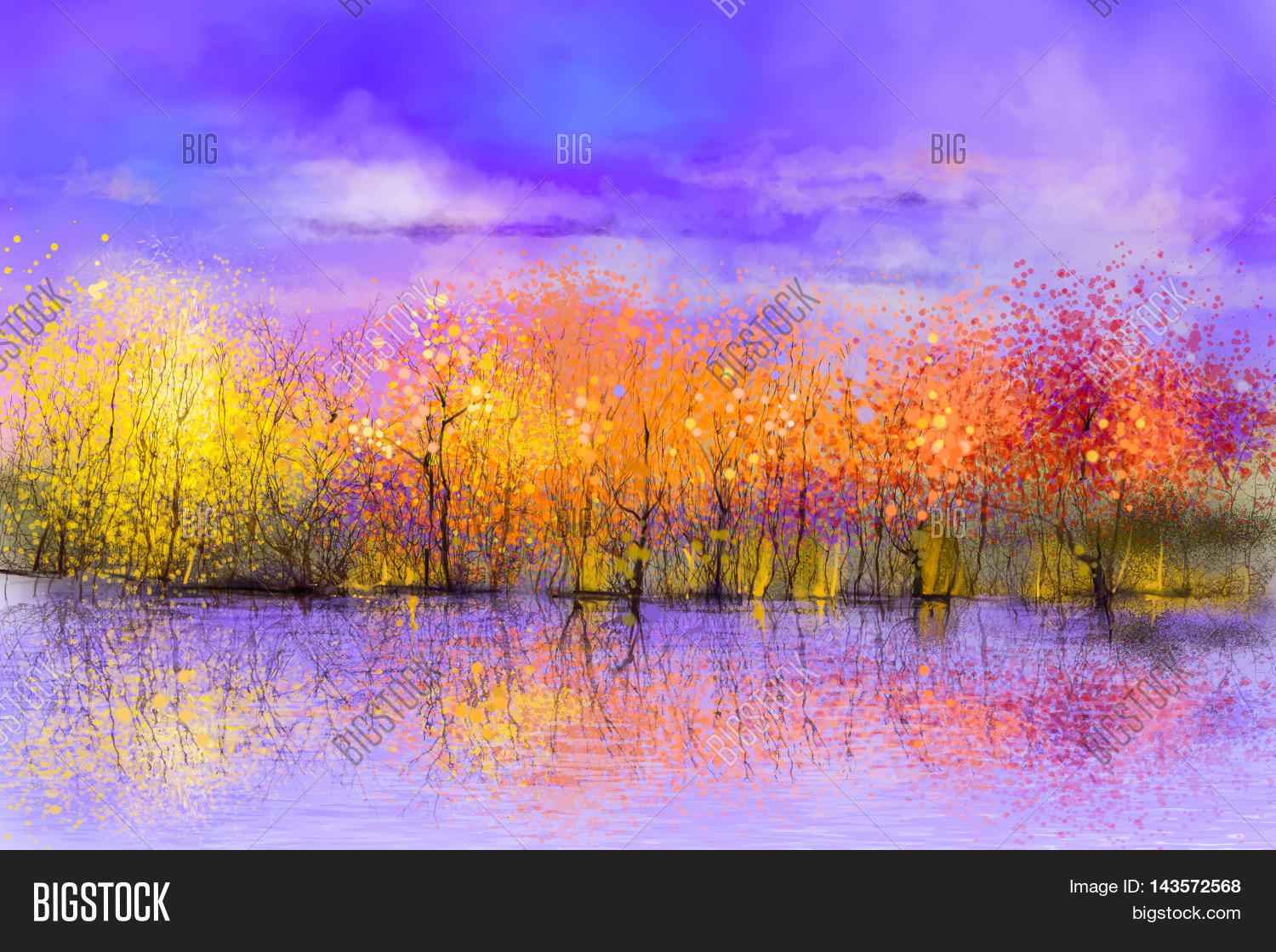 Oil painting landscape colorful image photo bigstock for Abstract nature painting
