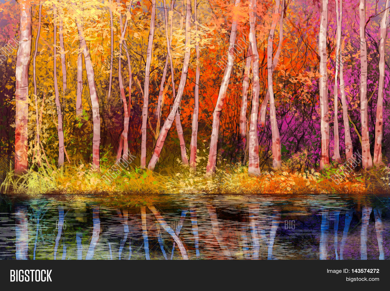 Oil Painting Landscape - Colorful Image
