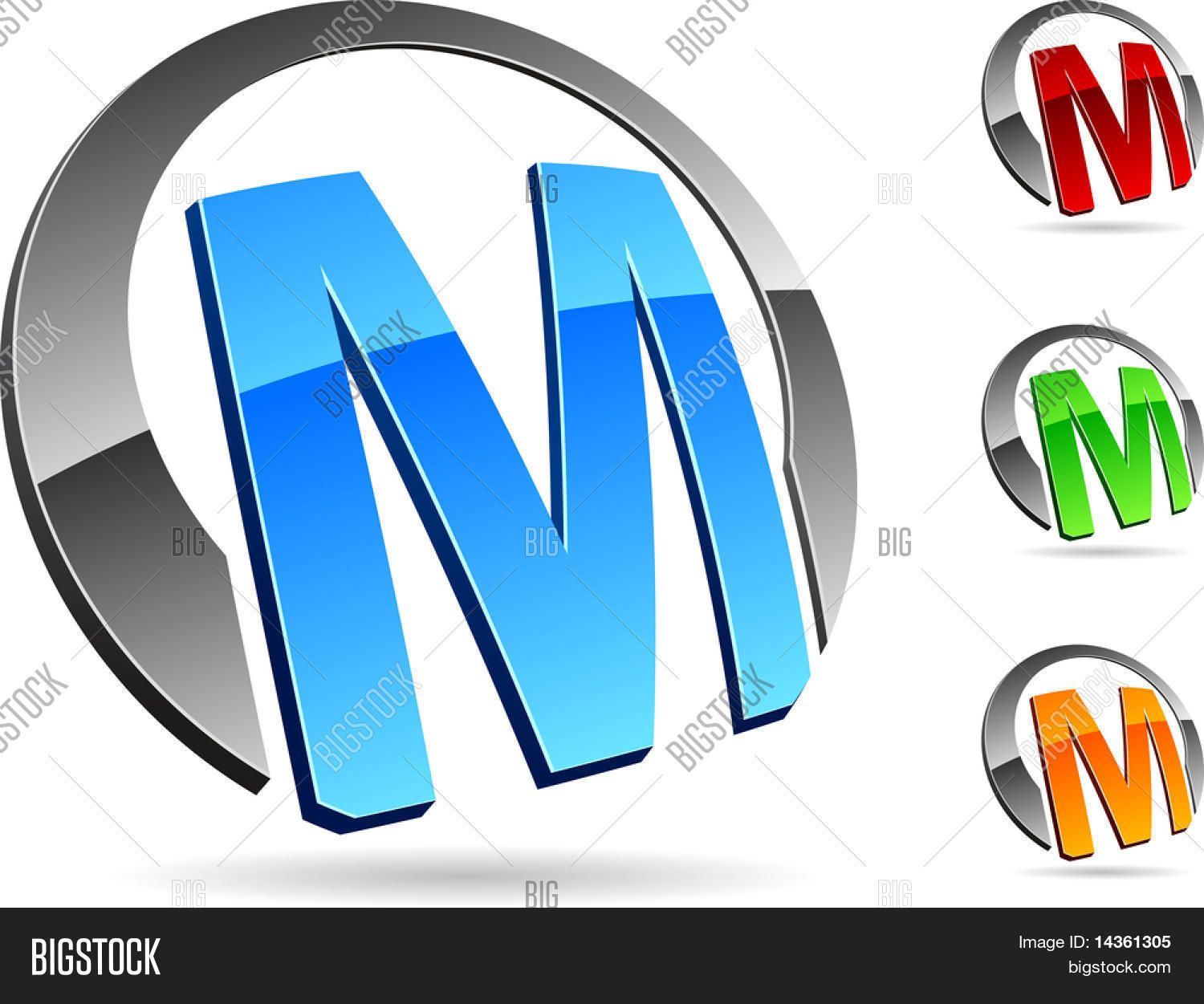 letter quotmquot 3d vector icons such logos stock vector