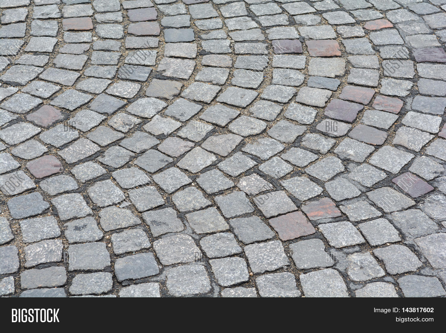 Stone Pavement In Paris : Stone street pavement from old paris in france stock photo