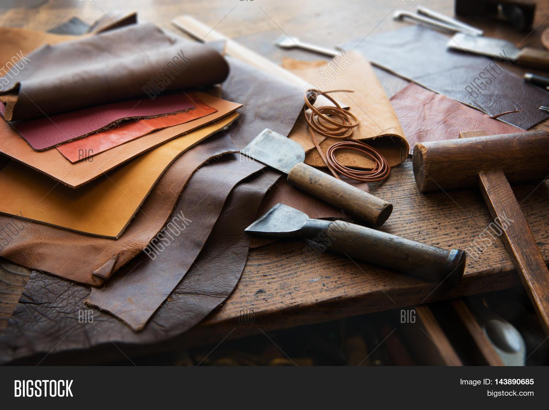 Leather Tools In Logo Design