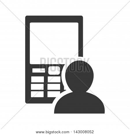 Smartphone pictogram gadget technology media icon. Isolated and flat illustration. Vector graphic