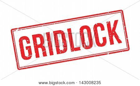 Gridlock Rubber Stamp